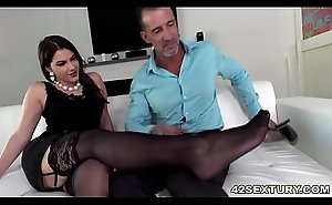 Anal sex and footjob with Valentina Nappi