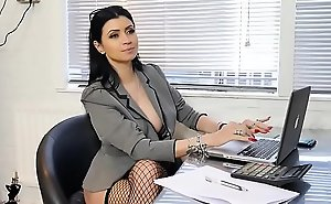 Boss bitch turn office boy to station slave