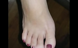 Creamy toes and feet blasted!