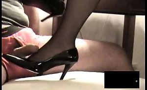 Jet rht stocking footjob close to jizz go about