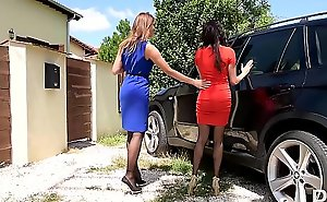 Luxury Foot Fetish sluts Anissa Kate &_ Ani Blackfox Fuck Outdoors