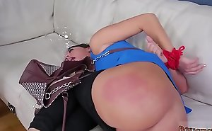 Stepmother and partner'_ duddy'_s daughter domination feet bondage