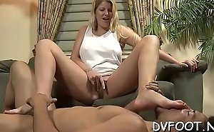 Footdomvideos.com vid with sexy chick teasing with sexy feet