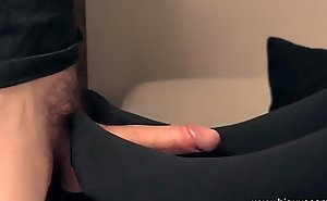 Pantyhose foot job slow motion tiny feet stroking cock