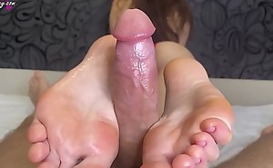Sensual Footjob from Slender Beauty - Foot Fetish