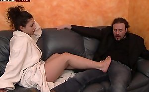 The Puppet Of Elisa First Part - Footjob
