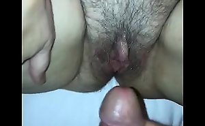 Tara got horny in the hotel room so I licked her pussy and shot my cum on her clit!