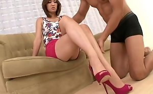 Long leg stocking asian got screwed hard full hd...