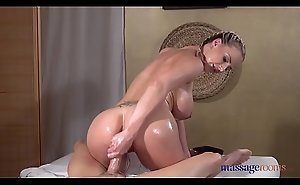 Massage Rooms Big tits blonde Nathaly Cherie oily massage and sex
